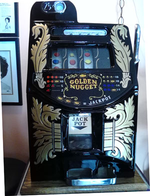 Mills Golden Nugget Antique Slot Machine